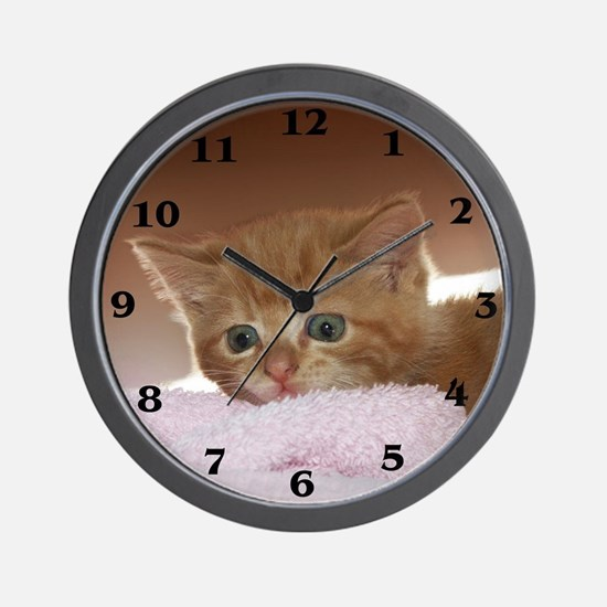 Ginger Kitten Wall Clock