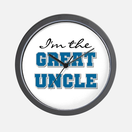 Blue Great Uncle Wall Clock