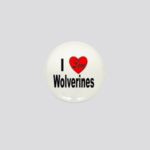 I Love Wolverines Mini Button