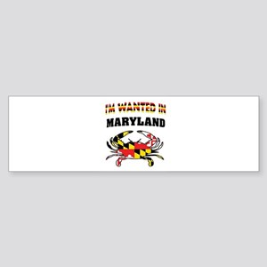MARYLANDER Bumper Sticker