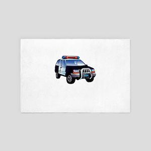 Police Race Against Crime 4' x 6' Rug