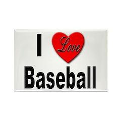 I Love Baseball Rectangle Magnet (10 pack)