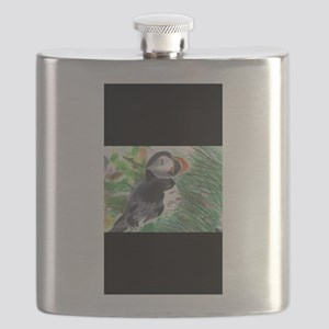 Happy Puffin Flask