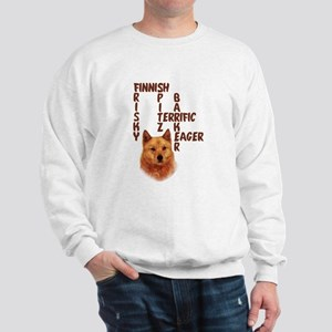 Finnish Spitz crossword Sweatshirt