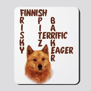 Finnish Spitz crossword Mousepad