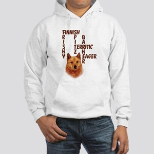 Finnish Spitz crossword Hooded Sweatshirt