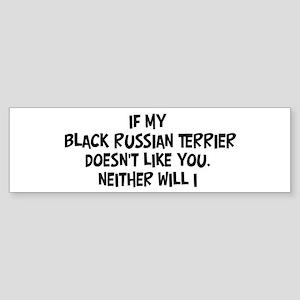 Black Russian Terrier like yo Bumper Sticker