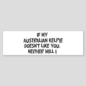 Australian Kelpie like you Bumper Sticker