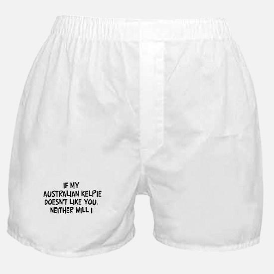 Australian Kelpie like you Boxer Shorts