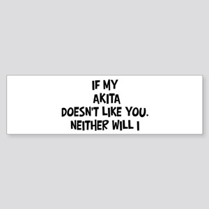 Akita like you Bumper Sticker