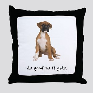 Good Boxer Puppy Throw Pillow