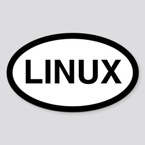 Linux Oval Sticker