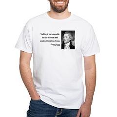 Thomas Jefferson 20 White T-Shirt
