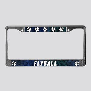 Paw Print Flyball License Plate Frame (Blues)