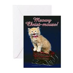 Meowy Christ-mouse! Greeting Cards (Pk of 10)