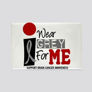 I Wear Grey For Me 9 Rectangle Magnet