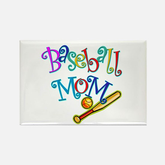 Baseball Mom Rectangle Magnet (10 pack)