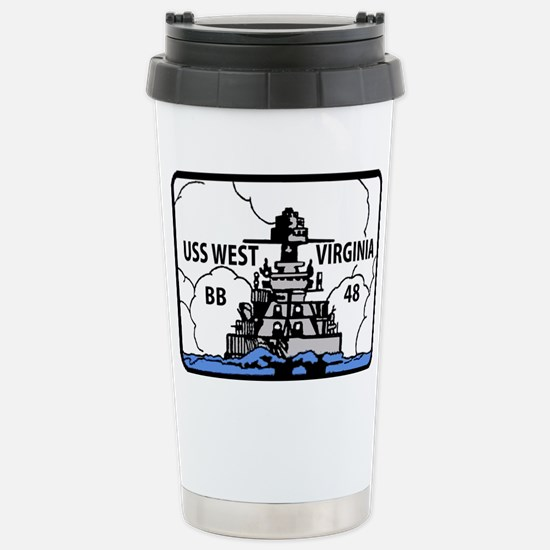 USS West Virginia BB 48 Stainless Steel Travel Mug