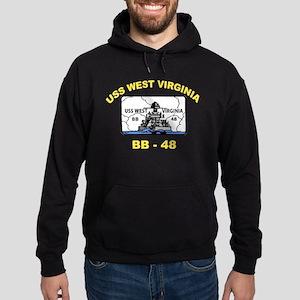 USS West Virginia BB 48 Hoodie (dark)