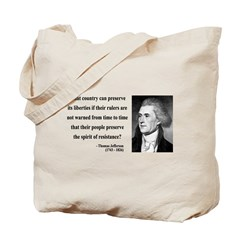 Thomas Jefferson 25 Tote Bag