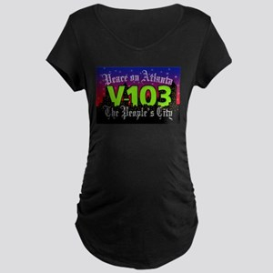 Peace on Atlanta Maternity Dark T-Shirt