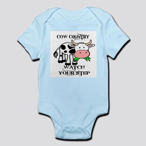 COW COUNTRY WATCH YOUR STEP Body Suit