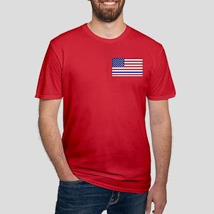 I support Law Enforcem Men's Fitted T-Shirt (dark)