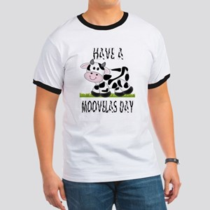 Cute Cow Moovalas day Ringer T