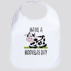 Cute Cow Moovalas day Bib