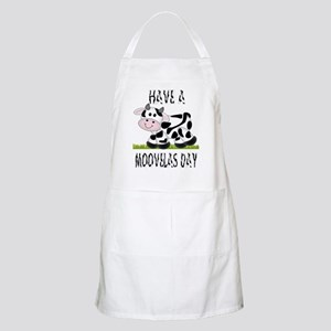 Cute Cow Moovalas day BBQ Apron