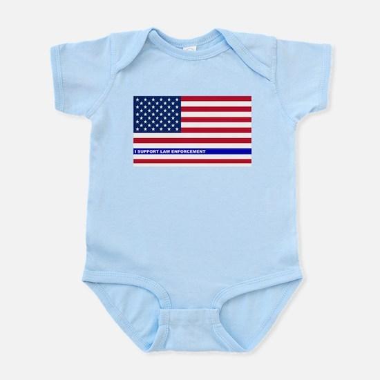 I support Law Enforcement American Infant Bodysuit