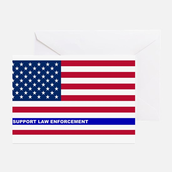 I support Law Enforcemen Greeting Cards (Pk of 10)