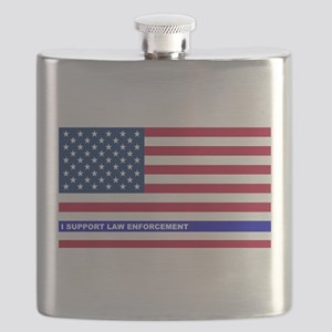 I support Law Enforcement American Flag Flask