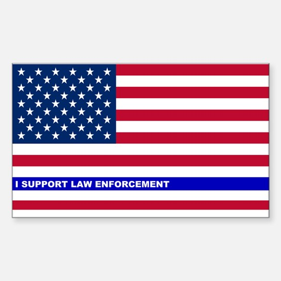 I support Law Enforcement Amer Sticker (Rectangle)