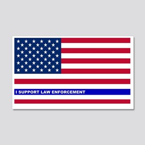 I support Law Enforcement America 20x12 Wall Decal