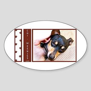 Chi-Weenies.com Oval Sticker