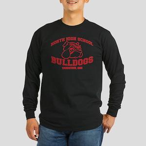 North High School Bulldog Long Sleeve Dark T-Shirt