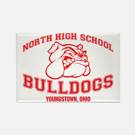 North High School Bulld Rectangle Magnet (10 pack)