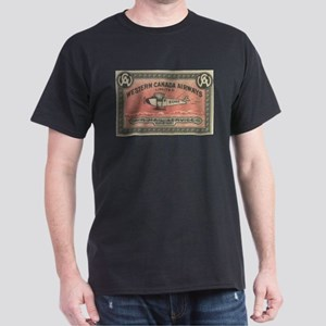 Western Canada Airways label Dark T-Shirt