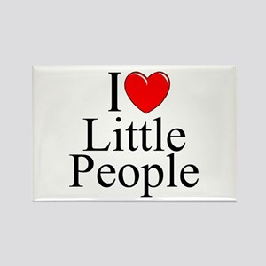 """I Love (Heart) Little People"" Rectangle Magnet"