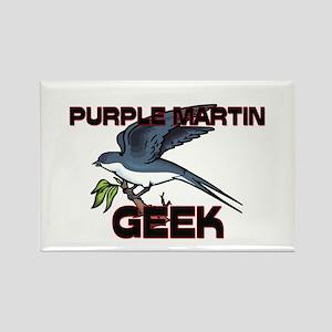 Purple Martin Geek Rectangle Magnet