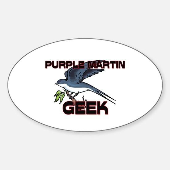 Purple Martin Geek Oval Decal