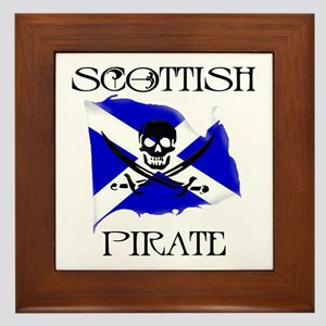 Scottish Pirate Framed Tile
