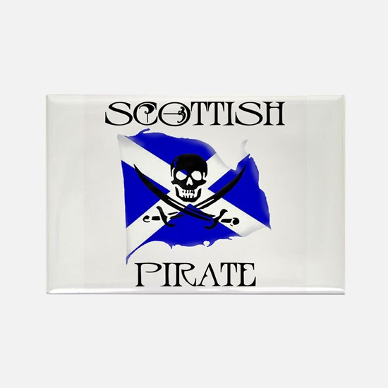 Scottish Pirate Rectangle Magnet