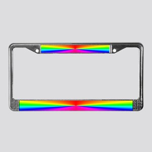 RainbowBurst<BR>License Plate Frame