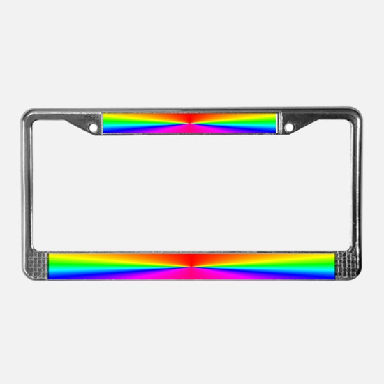 RainbowBurst<BR>License Plate Frame