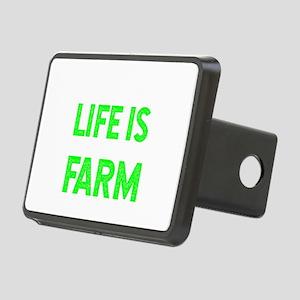 Farmer Shirt Life is bette Rectangular Hitch Cover
