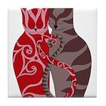 Kitty Love Tile Coaster