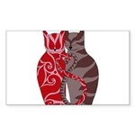 Kitty Love Rectangle Sticker