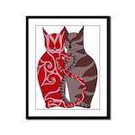 Kitty Love Framed Panel Print